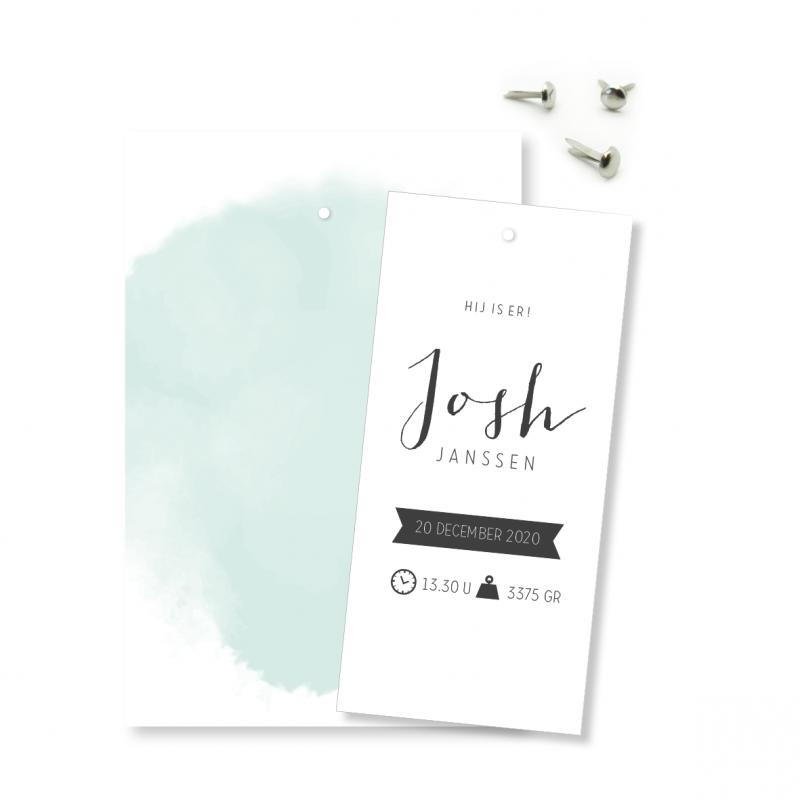Geboortekaartje Klembord - Josh