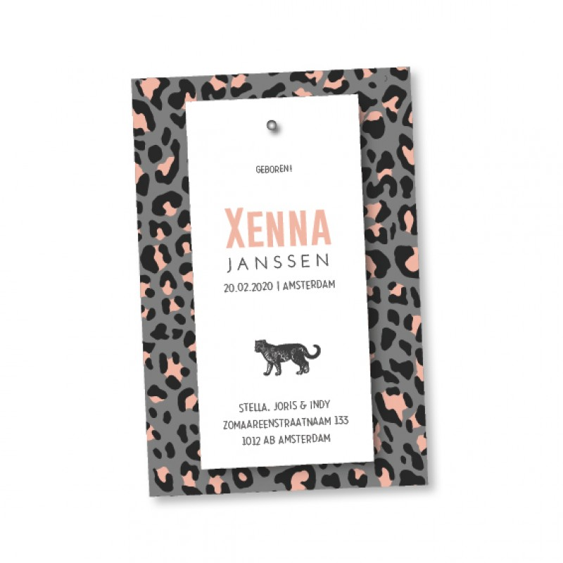 Geboortekaartje Klembord - Xenna