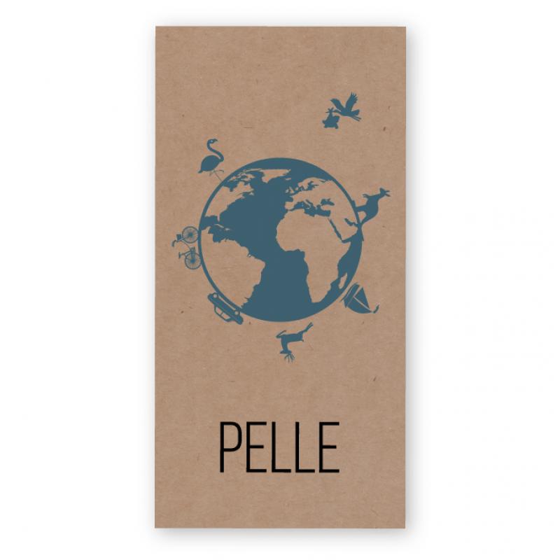 Geboortekaartje Kraft karton Pelle