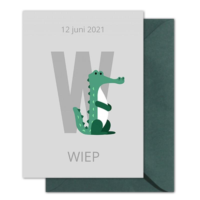 Geboortekaartje krokodil