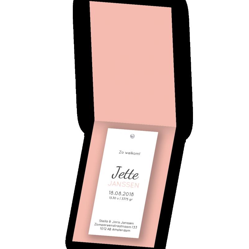 Geboortekaartje Label kaart Jette