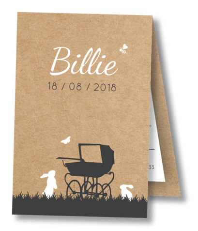 Geboortekaartje Label kaartje - Billie