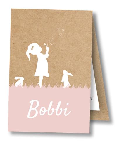 Geboortekaartje Label kaartje - Bobbi