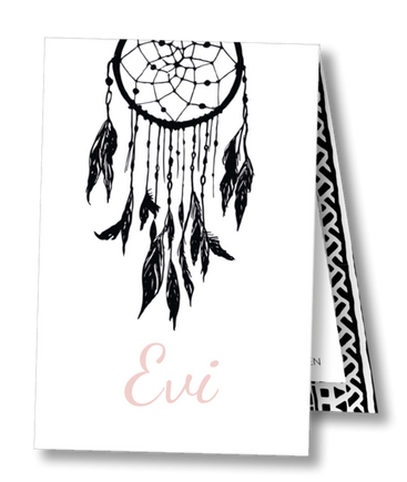 Geboortekaartje label kaartje - Evi