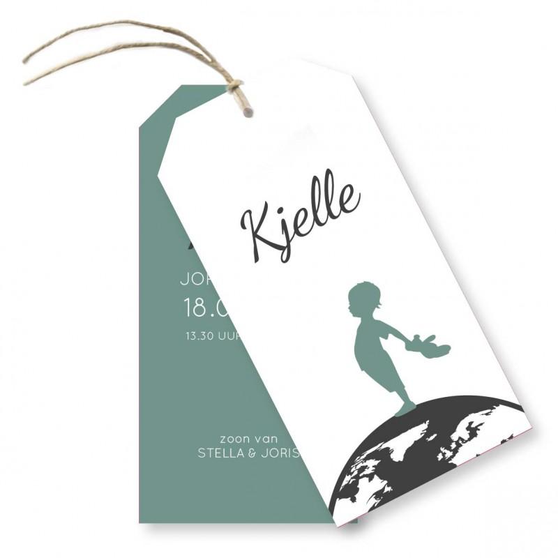 Geboortekaartje Label  kaartje - Kjelle