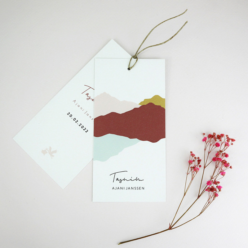 Geboortekaartje Label kaartje Tasnim
