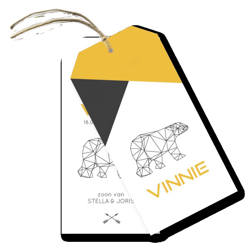 Geboortekaartje Label kaartje - Vinnie