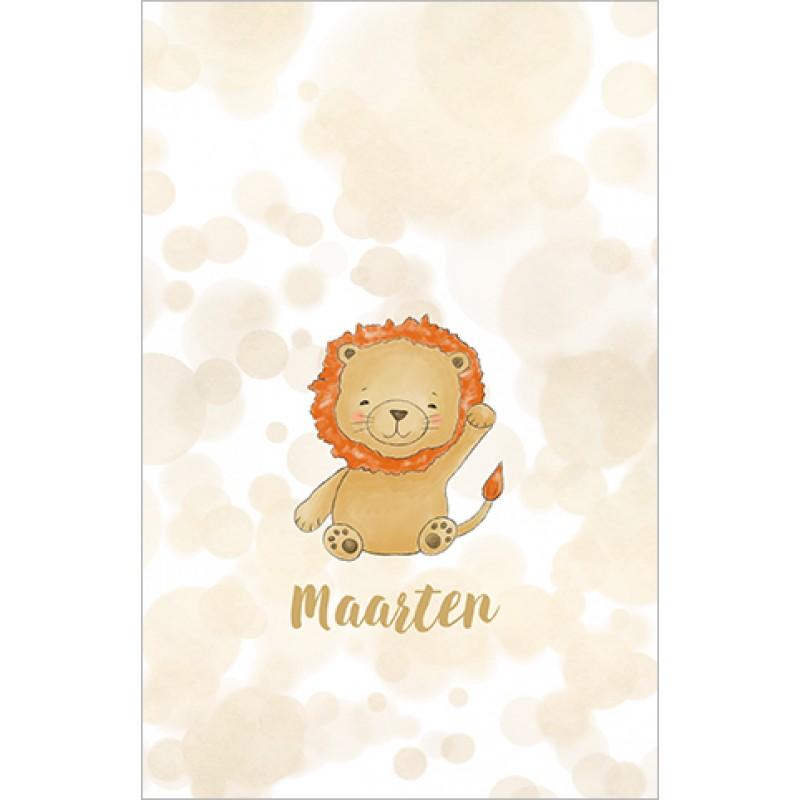 Geboortekaartje Leeuwtje met watercolor