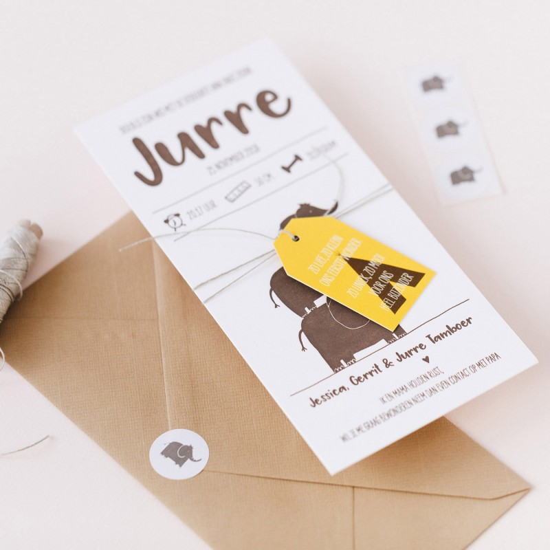 Geboortekaartje Letterpress (uniek!)