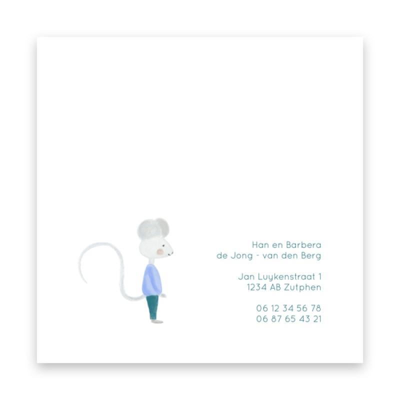 Geboortekaartje Lief getekend kaartje