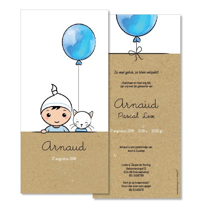 Geboortekaartje Lief jongetje   |  Arnaud