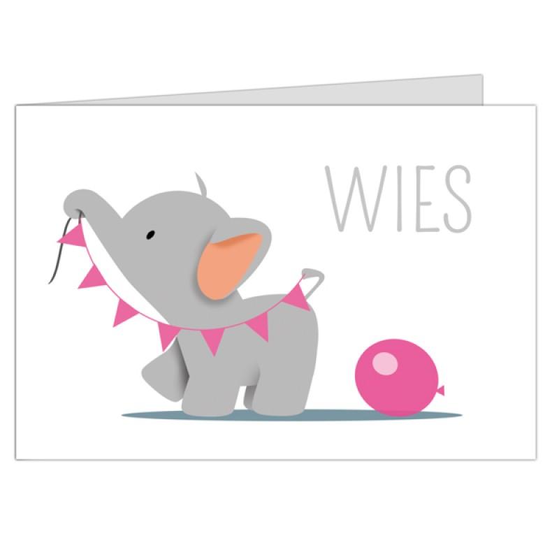Geboortekaartje Lief olifantje