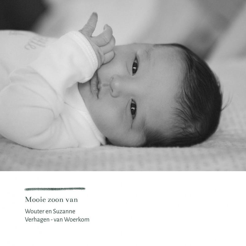 Geboortekaartje Mannes