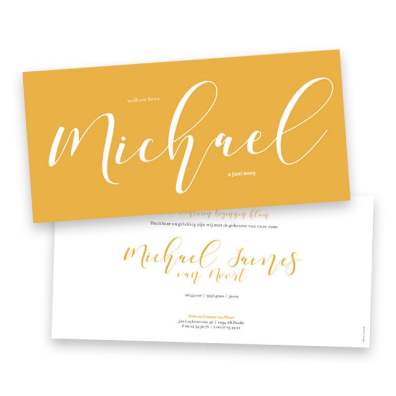 Geboortekaartje Michael