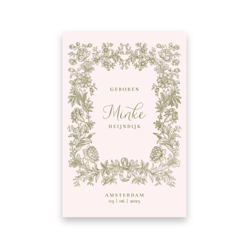 Geboortekaartje Minke