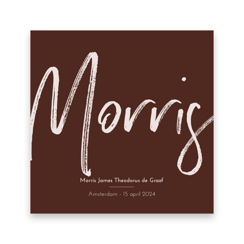 Geboortekaartje Morris