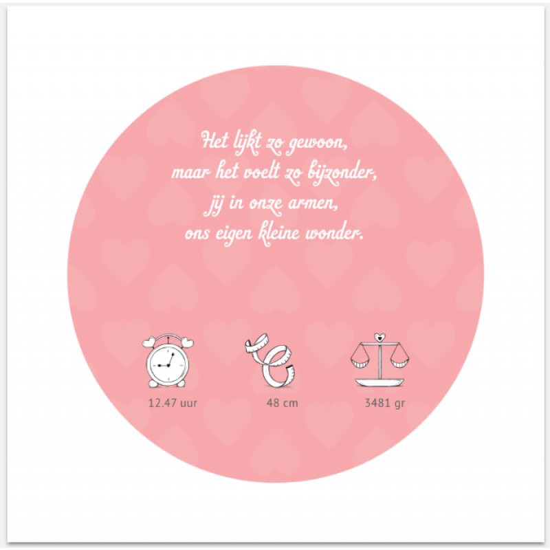Geboortekaartje Olifant Geboortekaart