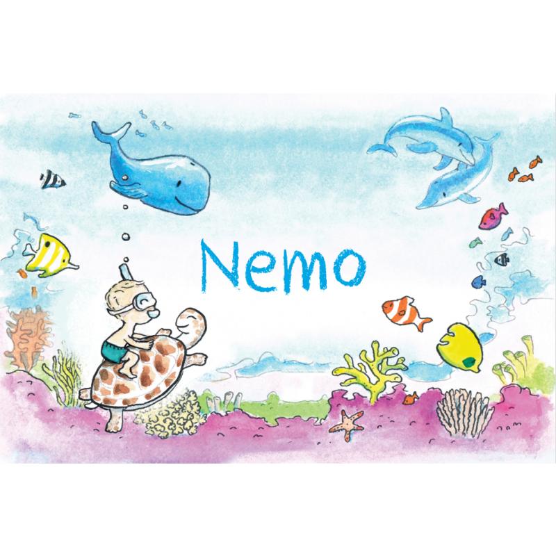 Geboortekaartje Onderwaterwereld jongen