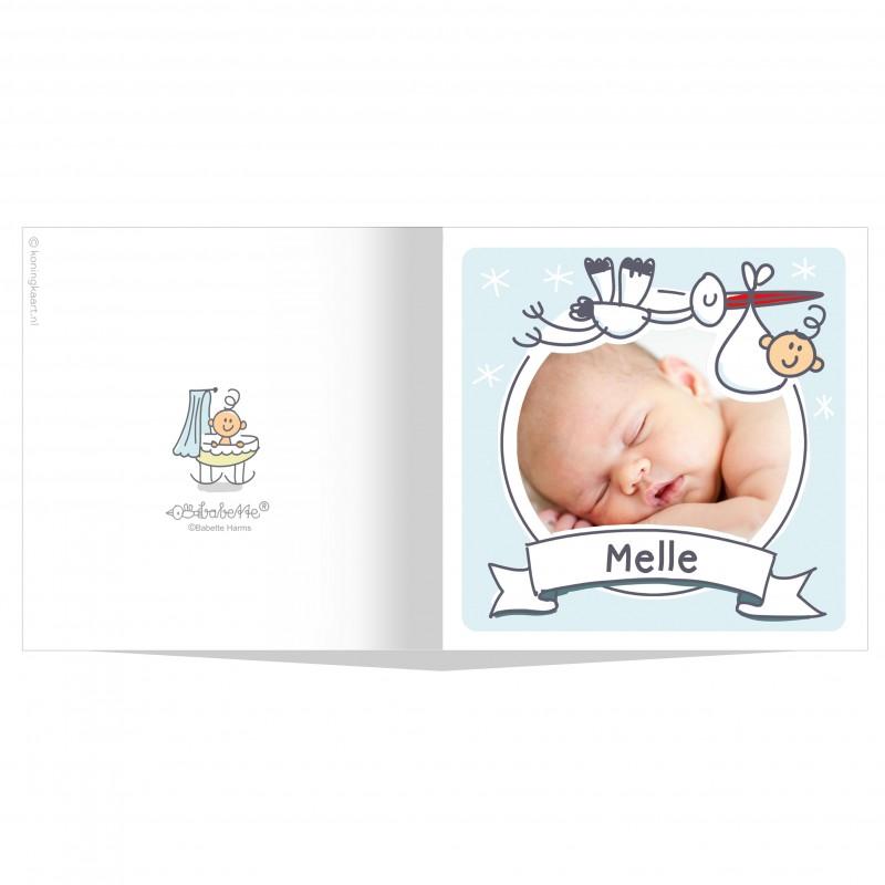 Geboortekaartje Ooievaar en foto