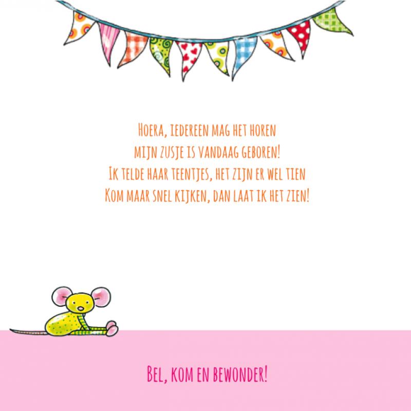 Geboortekaartje Pauline oud