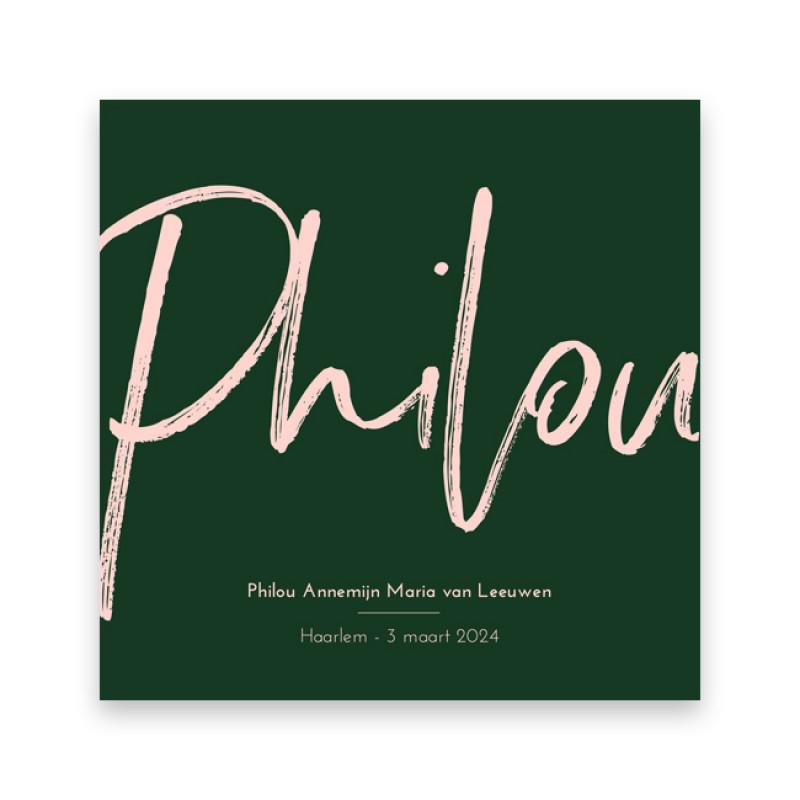 Geboortekaartje Philou