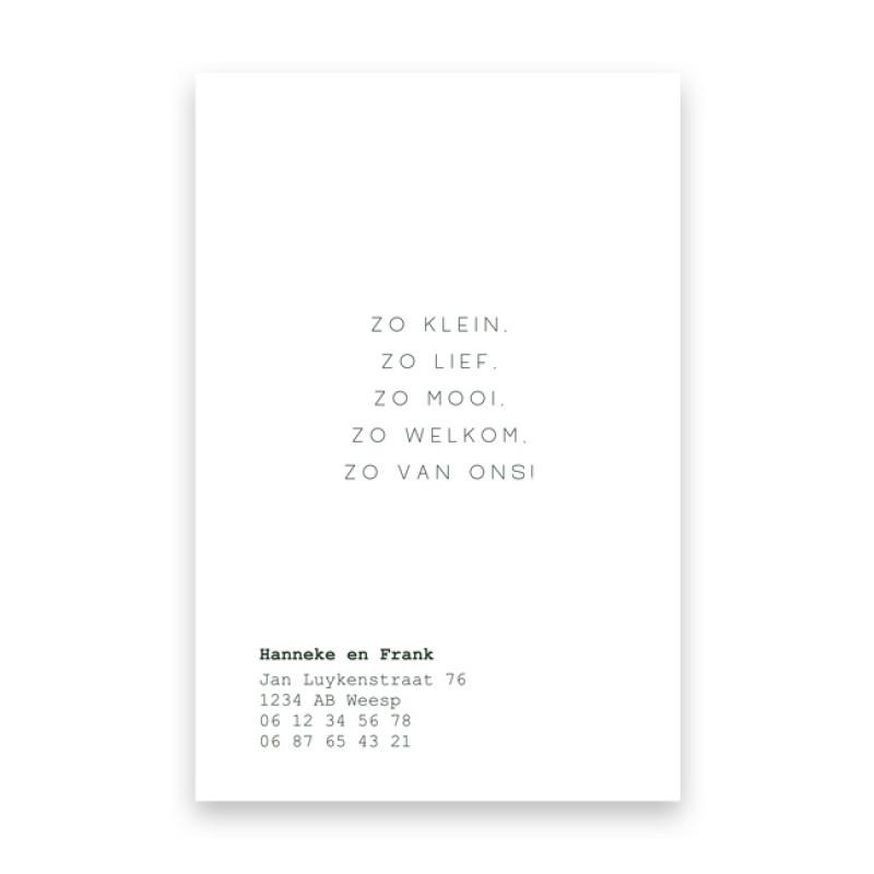 Geboortekaartje Pieter
