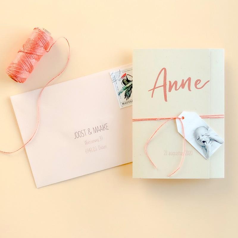 Geboortekaartje pocketfold paperwise