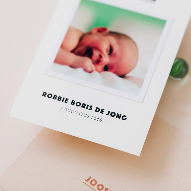 Geboortekaartje Polaroid - kleur