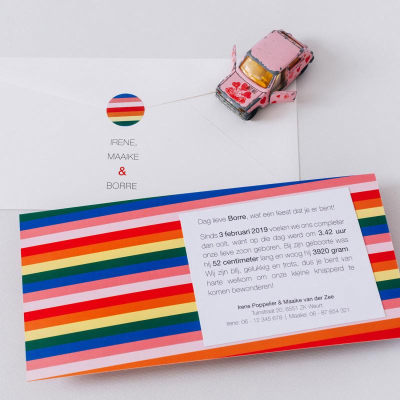 Geboortekaartje Regenboog