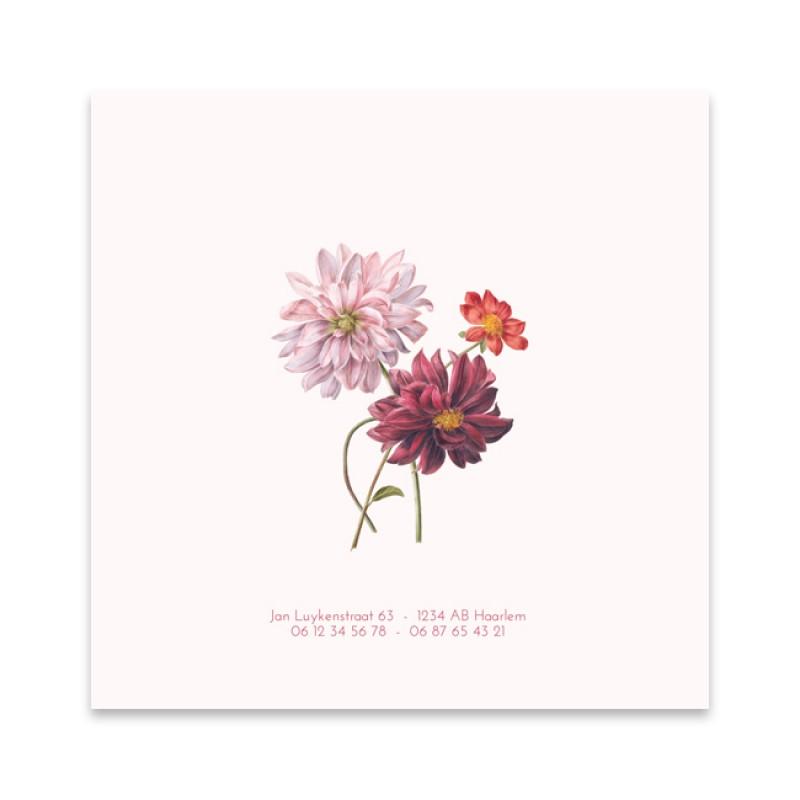 Geboortekaartje Rijksmuseum bloemen