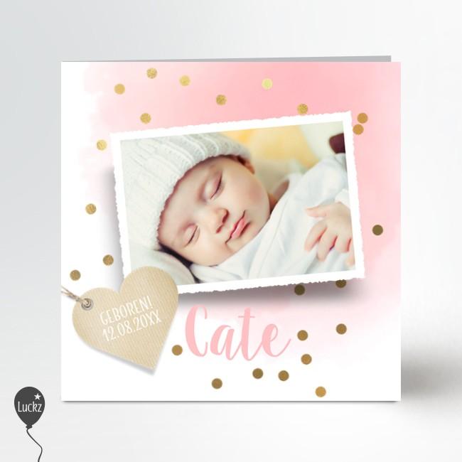 Geboortekaartje Schattig geboortekaartje
