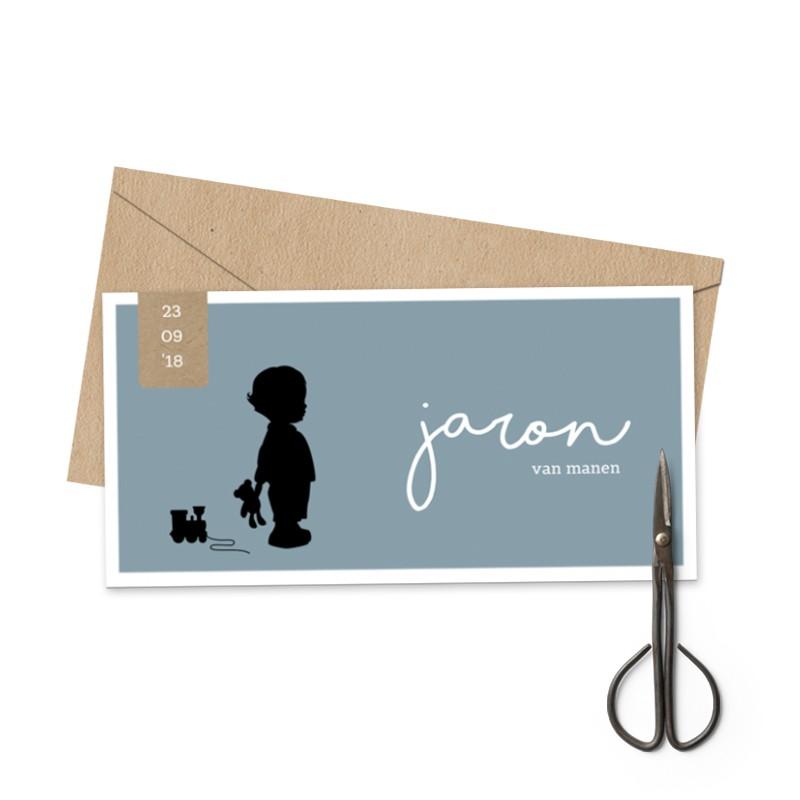 Geboortekaartje Silhouet geboortekaartje