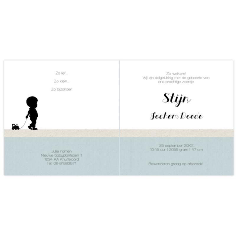 Geboortekaartje Silhouet jongetje