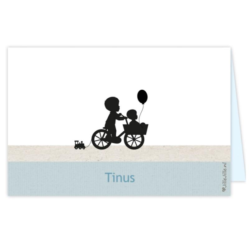 Geboortekaartje Silhouet kaartje broertjes