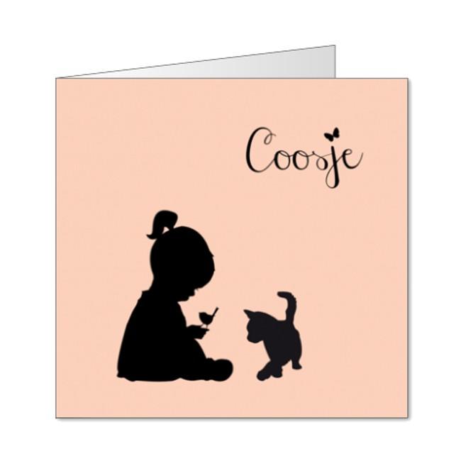 Geboortekaartje silhouette meisje