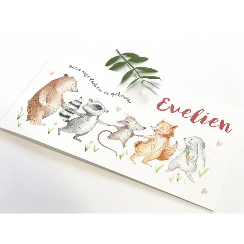 Geboortekaartje Slinger dieren