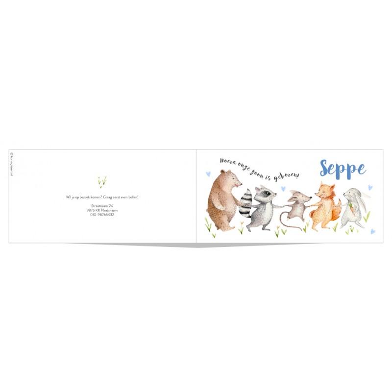 Geboortekaartje Slinger van dieren