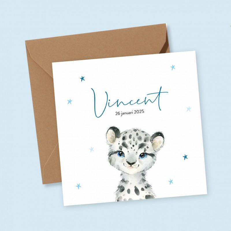 Geboortekaartje Sneeuwluipaard