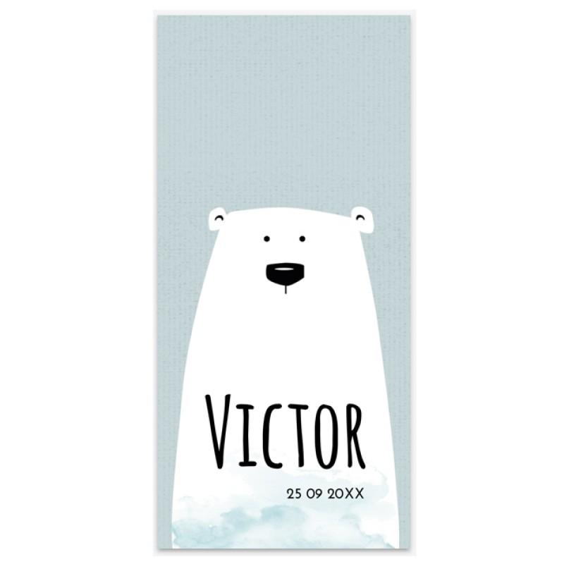 Geboortekaartje Staand kaartje beer