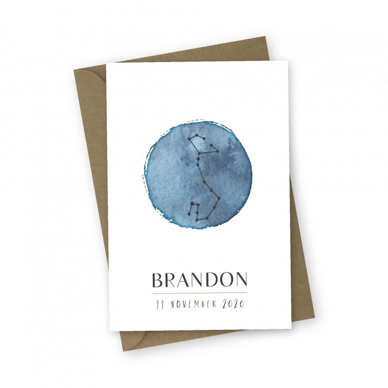 Geboortekaartje Sterrenbeeld Brandon