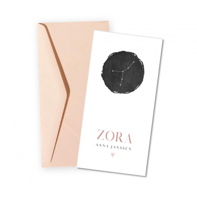 Geboortekaartje Sterrenbeeld Zora