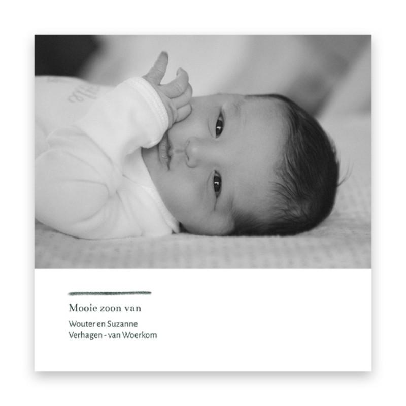 Geboortekaartje Stijlvol typografisch