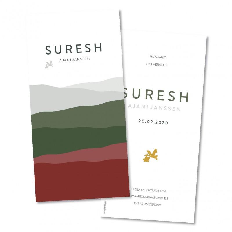 Geboortekaartje Suresh