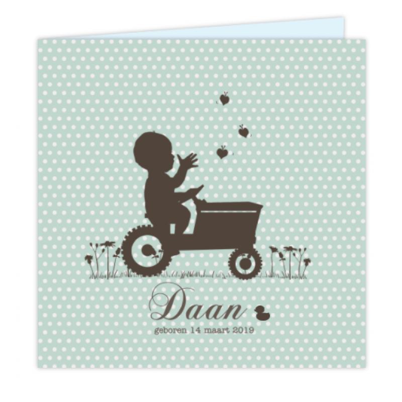 Geboortekaartje Tractor geboortekaartje