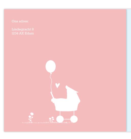Geboortekaartje Tweede kindje
