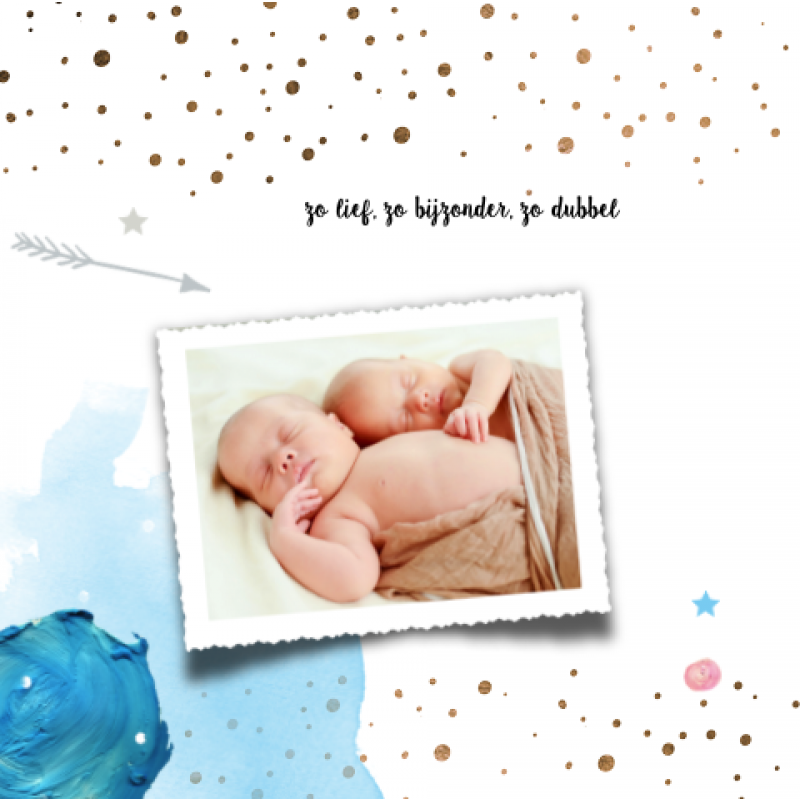 Geboortekaartje Tweeling Geboortekaartje