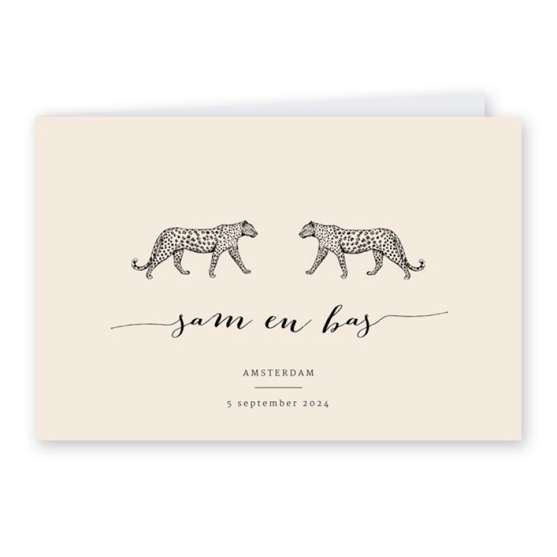Geboortekaartje Tweeling jungle kaartje