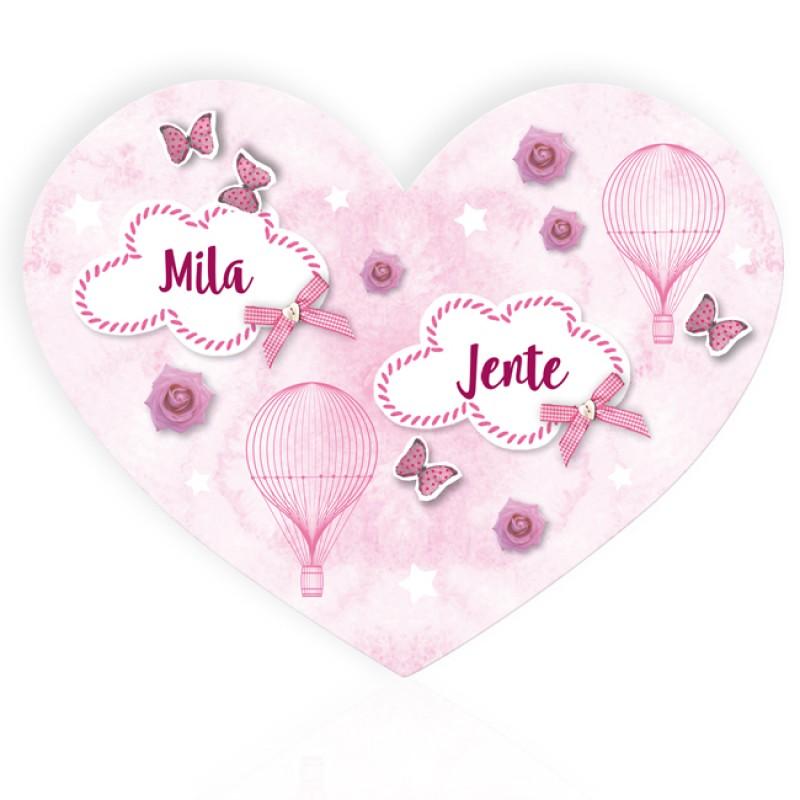 Geboortekaartje Tweeling met luchtballon