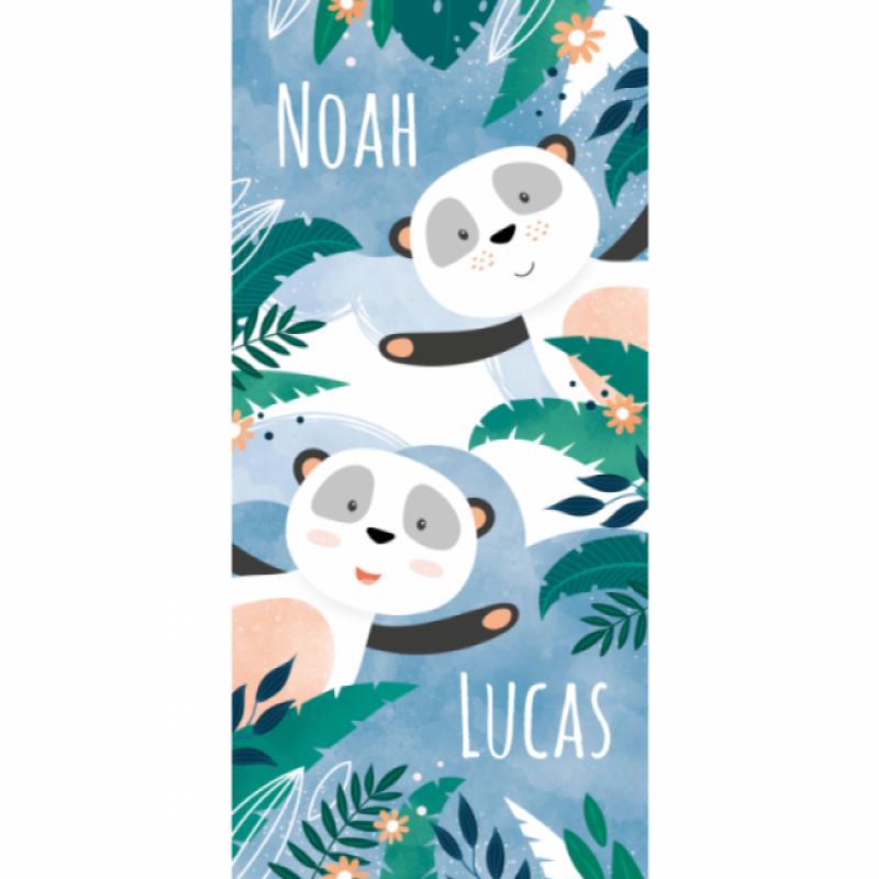 Geboortekaartje Tweeling panda's