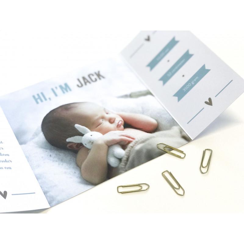 Geboortekaartje Tweeluik met foto